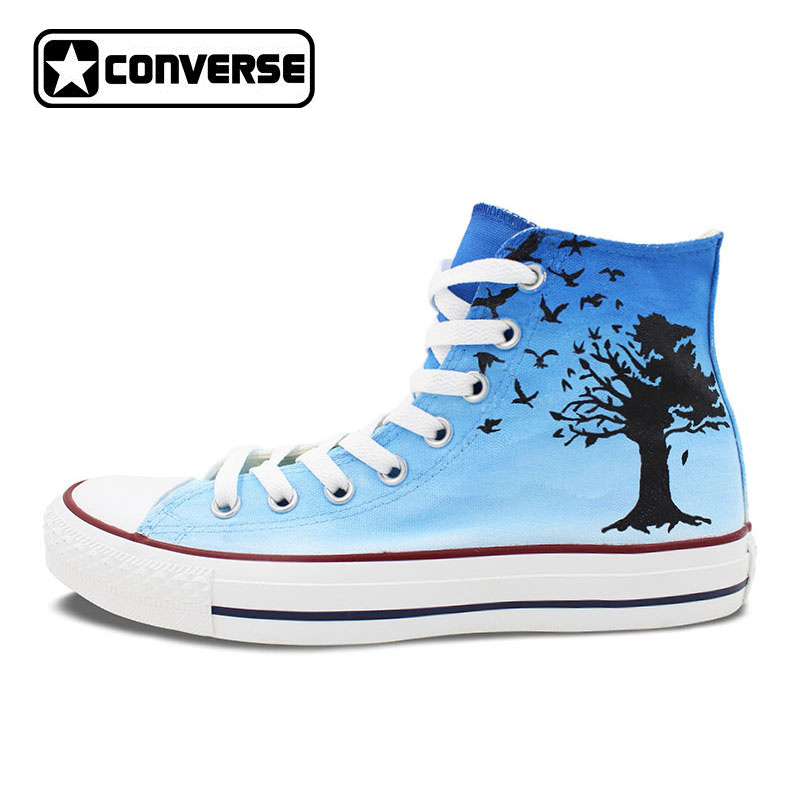 The Beatles Blackbird Converse All Star Design Custom Shoes Hand Painted Shoes High Top Canvas Sneakers Men Women converse all star high top shoes for men women dreamcatcher design flats lace up canvas sneakers for gifts