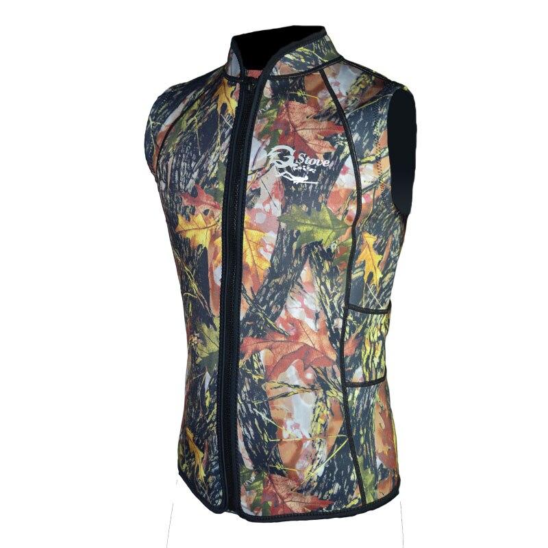 3mm Neoprene Spearfishing Fishing Vest Camouflage Hunting Clothing Suit for Men Women K1601 mens camouflage 3mm neoprene wetsuit weight belt vest veste for spearfishing fishing clothes women