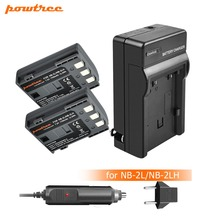 2Pcs akku NB-2L NB 2L NB2L NB-2LH  900mAh Rechargeable Li-ion Battery & Charger for CANON camera 350D 400D G7 G9 S30 S40 z1 L15