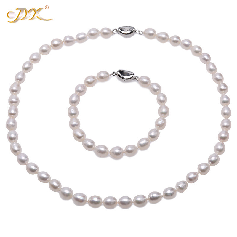 """16.5/"""" or 18.5/"""" AAA 7-8mm Black /& White Pearl 14K White Gold Dangle Necklace"""