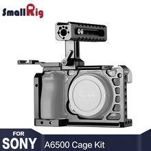 SmallRig A6500 Cage Kit for sony A6500 Камера с верхней ручкой Холодный башмак расширение Алюминий двойной клетка 2081