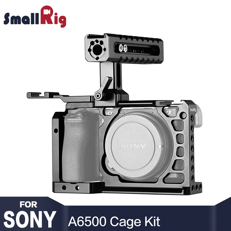 SmallRig A6500 Camera Cage Kit for Sony A6500 With Top Handle Cold Shoe Extension Aluminum Dual Cage 2081 sony a6500
