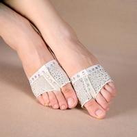 Sequins Heel Protector Professional Ballet Dance Socks 1 Pair Belly Dancing Foot Thong Toe Pad Belly