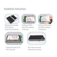 5 3 SSK HDD Case 2.5 Inch SATA Interface to USB 3.0 Adapter Hard Drive Enclosure SSD HDD Box External HDD Enclosure Black White V300 (5)
