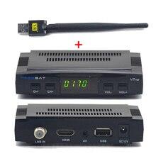 Freesat V7 HD Спутниковый Ресивер Поддержка Cccam клайн ccam PowerVu Biss Key YouPorn DVB-S2 Полный 1080 P Приемник С 1 ШТ. USB wi-fi