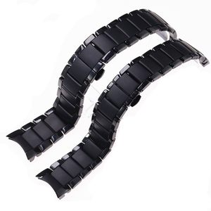 Image 5 - Zubehör keramik stahlband 22mm 24mm für Armani uhr modelAR1452 AR1451 uhrenarmbänder schwarz matte strap Ersatz armband