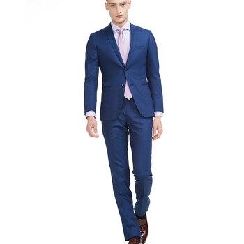 Men's Business Suit Grooms Suit Wedding Dresses Custom Made New Mens Fashion Slim Suit Casual 2 Pieces (Jacket+Pants)