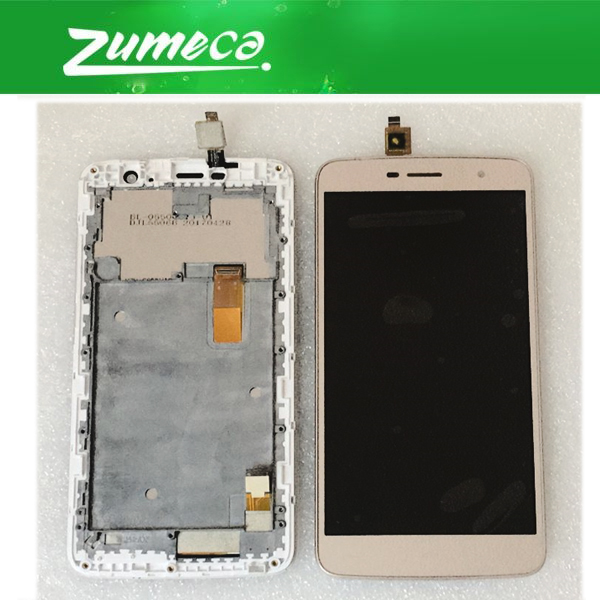 For <font><b>Homtom</b></font> HT17 HT17 Pro <font><b>HT17Pro</b></font> LCD Display Screen+Touch Screen Digitizer With FRAME Assembly black white gold color image