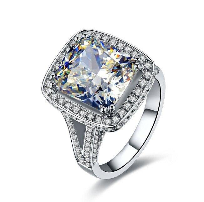 Luxury Quality diamond wedding ring Amazing 8 Carat cushion Cut