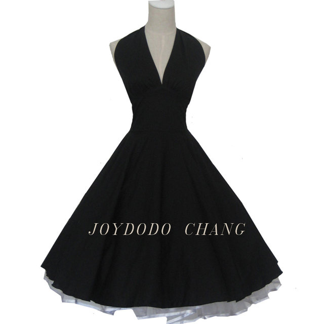 Online Shop Women Summer Marilyn Monroe Style 50s 60s Swing Vintage ...