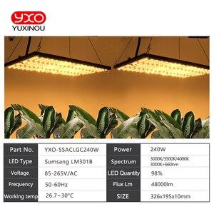 Image 5 - Tablero de luz Led de cultivo Super brillante, 120W, 240W, espectro completo, Samsung LM301B SK 3000K 3500K 4000K 660nm Meanwell Driver DIY
