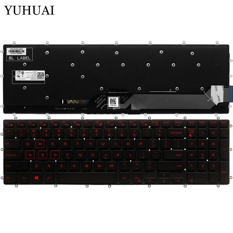 NEW FOR DELL G3 3579 3779 G5 5587 G7 7588 Keyboard White Backlit UK NO Frame
