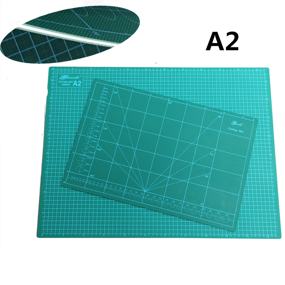 new Cutting Mat A2 Pvc Rectangle Self Healing thicker  white core  Desktop Protection Mat   Craft Dark Green 60cm * 45cm*0.3cm pvc rectangle self healing cutting mat tool a4 craft dark green 30cm 22cm