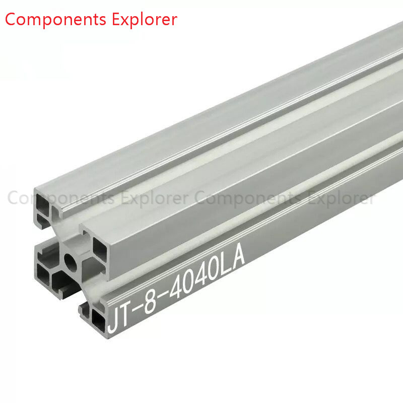 Arbitrary Cutting 1000mm 4040LA Aluminum Extrusion Profile,Silvery Color.