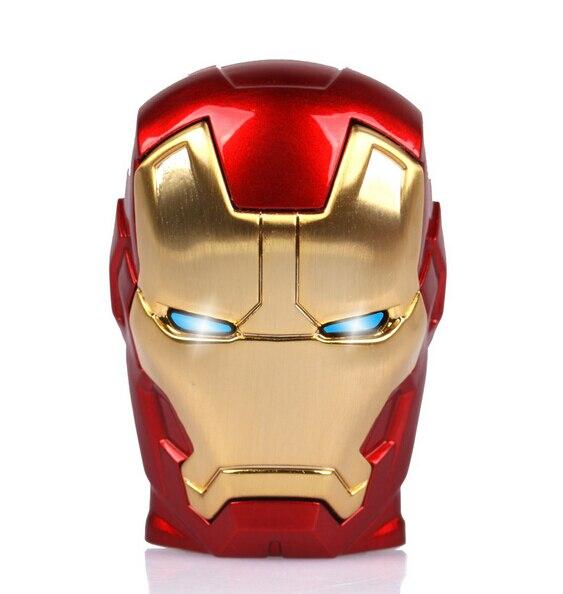 LED improved Iron man 3 USB Flash Drive Memory Disk Card Stick Thumb/Car/Pendrive Key U Disk/creative Gift 4GB 8GB 16GB 32GB