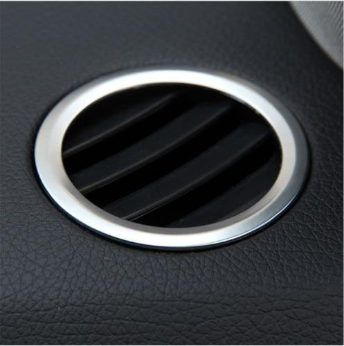 2Pcs set ABS Chrome Interior AC Air Vent Outlet Cover Trim Decoration For Mercedes Benz GLK