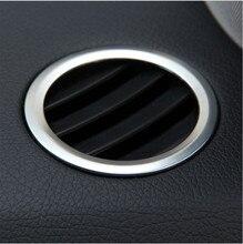 2 шт./компл. ABS хромированные внутренние переменного тока, устанавливаемое на вентиляционное отверстие в салоне автомобиля Выход Обложка отделка украшения для Mercedes Benz GLK X204 мл W124 GL X164 автомобильные аксессуары