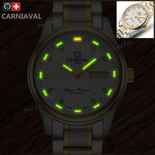 2016 New tritium luminous mens mechanical watch military waterproof diving sports diamond luxury Famous Brand watches full steel