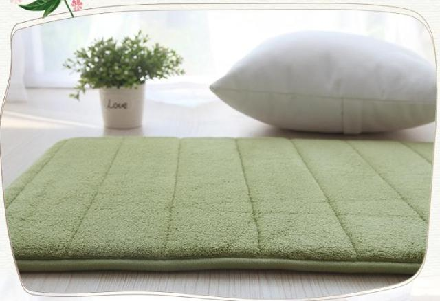 Solid Color Cotton Bathroom Mat