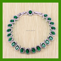 Reginababy Prominent Green created Emerald Bracelet For Women White Gold color Crystal Jewelry