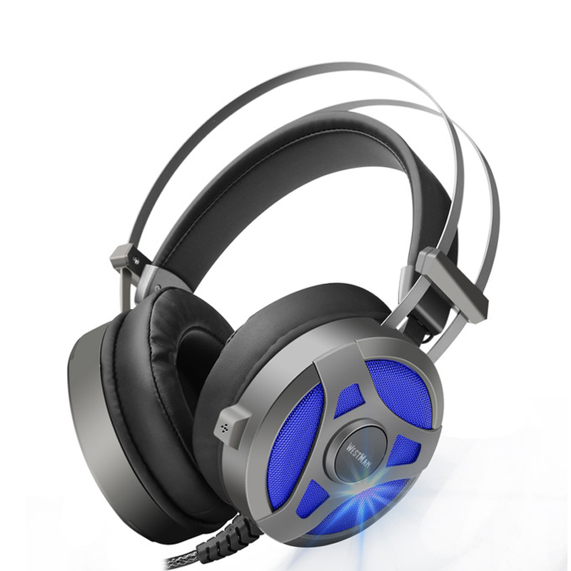 Computer Gaming Headset Game headphone Headband Over-ear Stereo Heavy Bass LED Light with Mic for PC Gamer bass hd gaming headset mic stereo sound gamer over ear headband headphone noise cancelling with microphone for pc game glow led