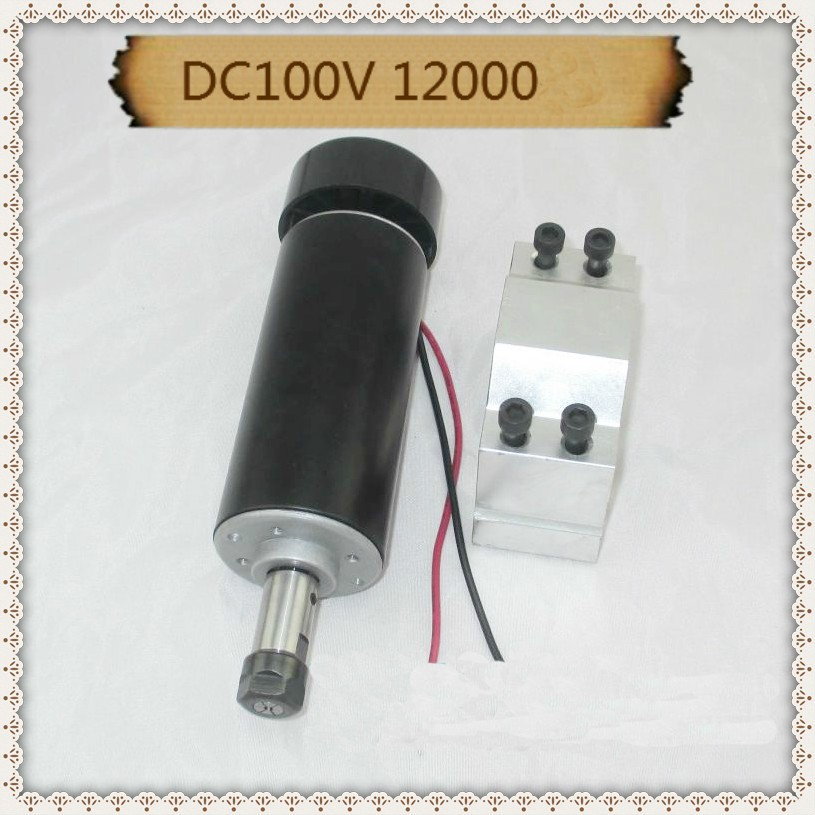 Free shipping 500W ER11 collet 52mm diameter DC 0-100 CNC Carving Milling Air cold Spindle Motor For Engraving runout dc48v 400w 12000rpm brushless spindle motor air cooled 529mn dia 55mm er11 3 175mm for cnc carving milling
