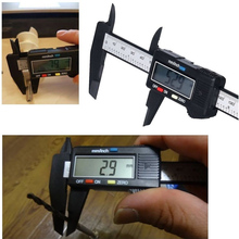 Best price Professional LCD Digital Carbon Fiber Vernier Caliper Ruler Gauge Tool