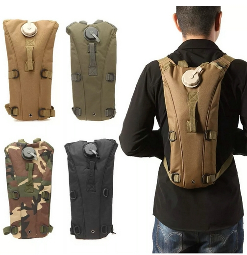 Black tan green 2.5L TPU Bicycle Sports Water Bag Water Bladder Hydration Bag for tactical ourdoor
