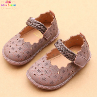 POSH DREAM Vintage Baby Girls Shoes for Newborn Spring Autumn Girl Baby First Walker Shoes Princess Shoes for Infants Baby Girls