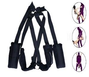 Image 2 - Fantasy Swing Sex Body Bondage Pleasure Restraining Plush Belt Toy for Adults Lovers Men and Women Couples