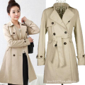 The new 2016 European and American fashion Han edition women's trench coat Star leisure coat Dust coat