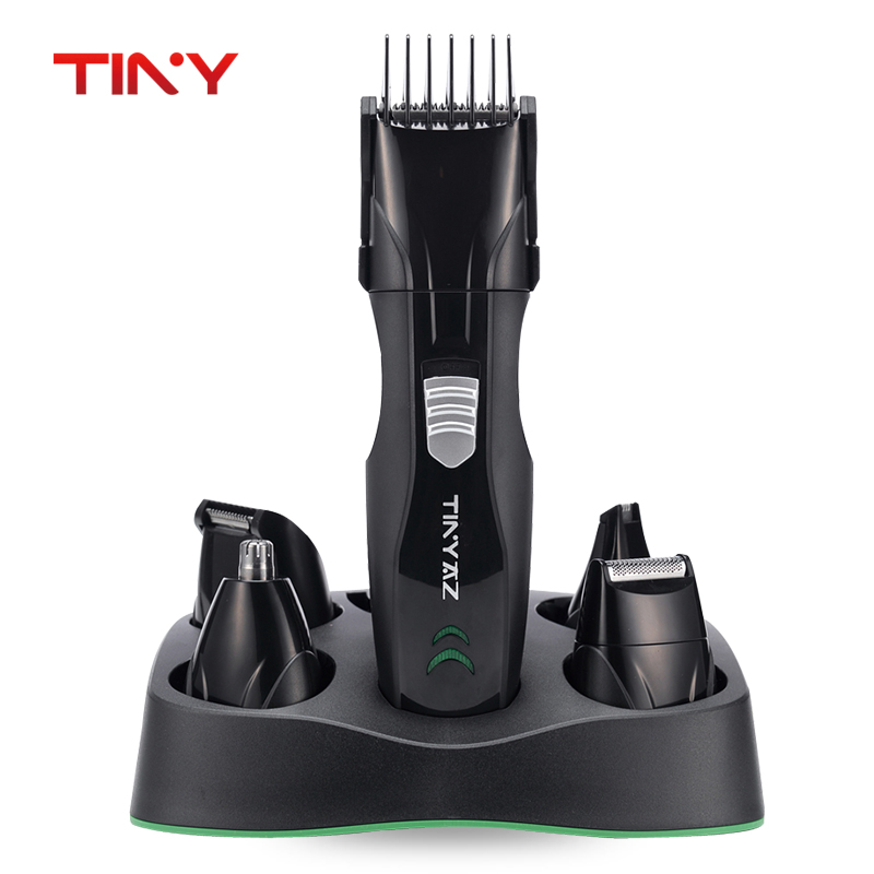 TINY Rechargeable Hair Trimmer Set Electric Men Barber Shaver Beard Trimmer Hair Cutting Machine Men's grooming Kit Set rechargeable hair trimmer with accessories set silver 220v ac
