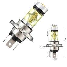 2Pcs 100W H1 H7  LED bulbs Car Fog light H4 H11 H16 9005 9006 12V 24V Car Light 6000K 3000K White Yellow Amber for tacoma led