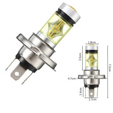 2Pcs 100W H1 H7 LED bulbs Car Fog light H4 H11 H16 9005 9006 12V 24V Car Light 6000K 3000K White Yellow Amber for tacoma led(China)