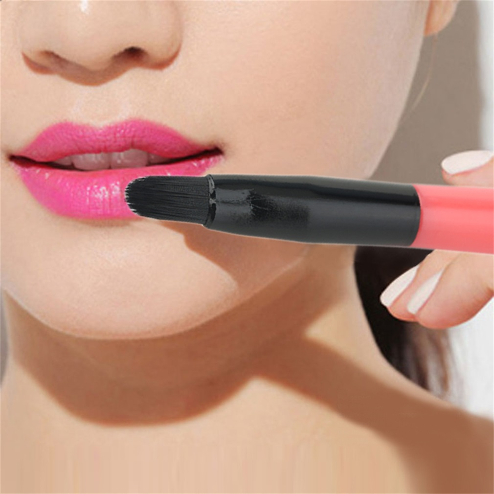 100% Professional Make Up Tool Portable Retractable Cosmetic Lipstick Gloss Lip Brush Eyeliner Brush Drop Shipping