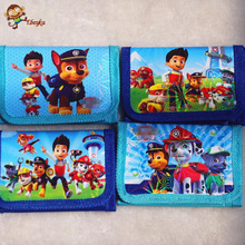 "2pcs / lot Children""s cartoon Wallet dog patrol Coin bag Children's toys and gifts Free Delivery"