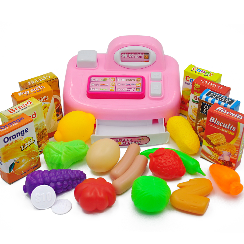 Kids Toys Cash Register Cashier Early Educational Toy Superm