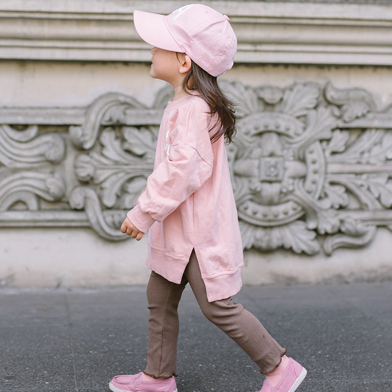 Baby Girls Mid-long Sweater Spring Cotton Children Vestidos Boys O-Neck Collar Long Sleeve Pullovers Front Short Back Long Tops
