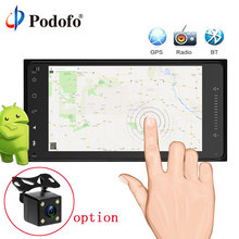 Podofo Android 2Din Car Radio GPS Navigation 7″ Car Audio Touch Car Audio Car Multimedia Player for Toyota With Rear View Camera