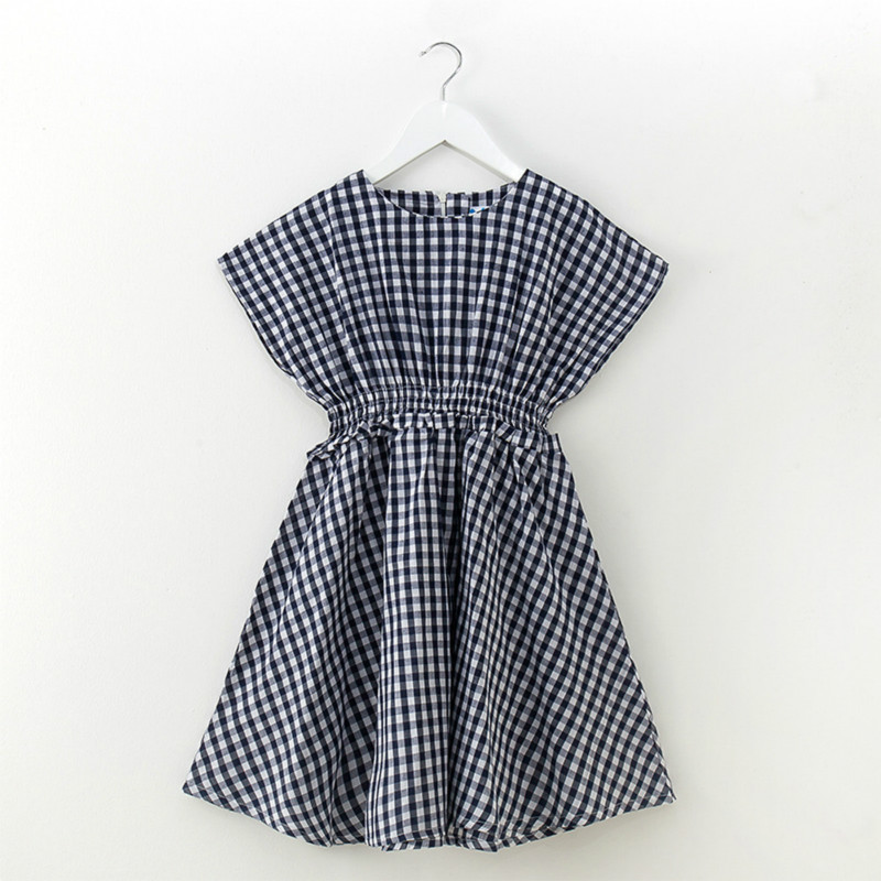Tanggetu Girls' Dress In Korean Version 2018 Spring Summer Girl New Pure Cotton Plaid Child Strip Knee Length Defined Waist free shipping factory direct sales good quality new spring summer 2016 korean version brand men straight jeans cheap wholesale