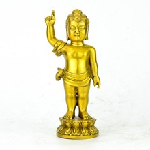 Pure copper Prince Prince Buddha Shakya Muni Buddha Hall decoration
