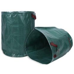 Worek na odpady ogrodowe  2 szt. 270 litra duży worek na odpady ogrodowe odpady ogrodowe kosz na śmieci z podwójnym szytym uchwytem recykling He w Kosze na śmieci od Dom i ogród na