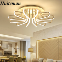 Surface Mounted Flower Shape Modern Led Ceiling Chandelier Living Room Dining Bedroom Ultra Thin Ceiling Chandeliers