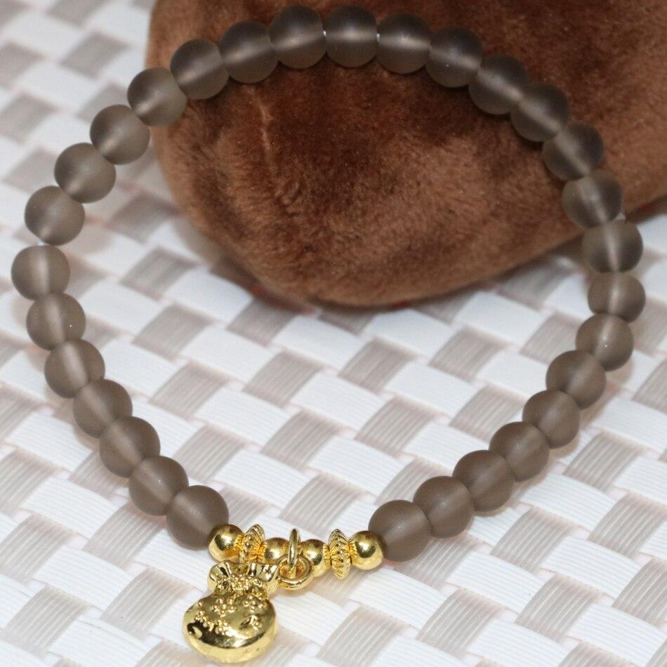Spiritualité moine énergie Bead 2pcs 8 mm dépoli blanc et noir agate bracelet