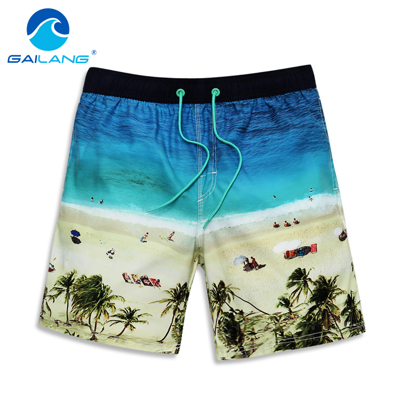 Gailang Brand Men Board Shorts Beach Boxer Trunks shorts Swimwear Swimsuits 2016 Man Casual shorts bermudas