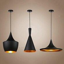 Винтажные подвесные светильники, Лофт лампа, скандинавские подвесные светильники для ресторана, кухни, золотой светильник с внутренней отделкой, домашнее промышленное освещение