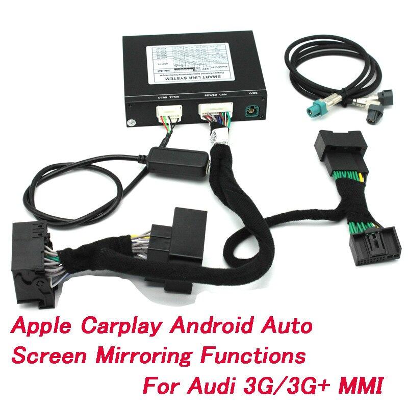 Système de mise à niveau de l'écran d'origine de la boîte de jeu de voiture Android Airplay pour IOS et Android pour Audi A1 A3 A4 A5 A6 Q3 Q5 Q7