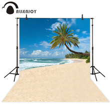 Allenjoy seaside Photo background one tree beach sea clouds seaside spindrift photography backdrops Vinyl photography цена