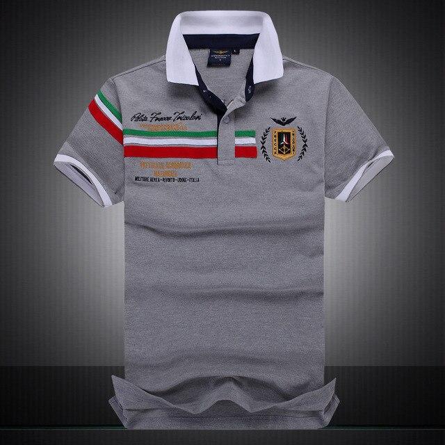 New Arrival Camisa top Tee Shirts Embroidery Aeronautica Militare POLO Men Brand Shirt Shorts Sleeve Shirt size:M-XXL
