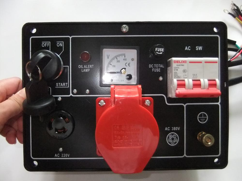 KAMA type KM186FA KM186F 5KW three phase diesel generator parts,Control Panel Assy, accessories. цена